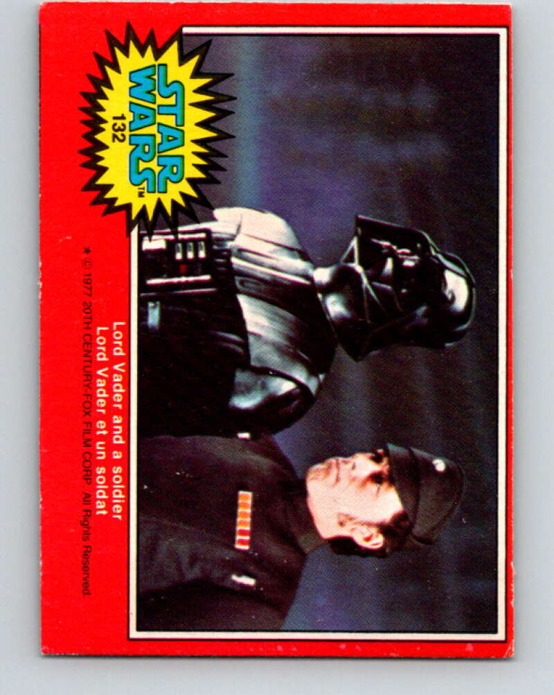 1977 OPC Star Wars #132 Lord Vader and a soldier   V34455