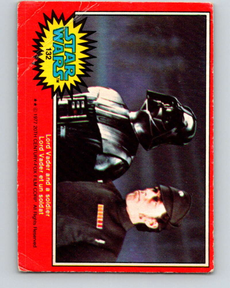 1977 OPC Star Wars #132 Lord Vader and a soldier   V34457