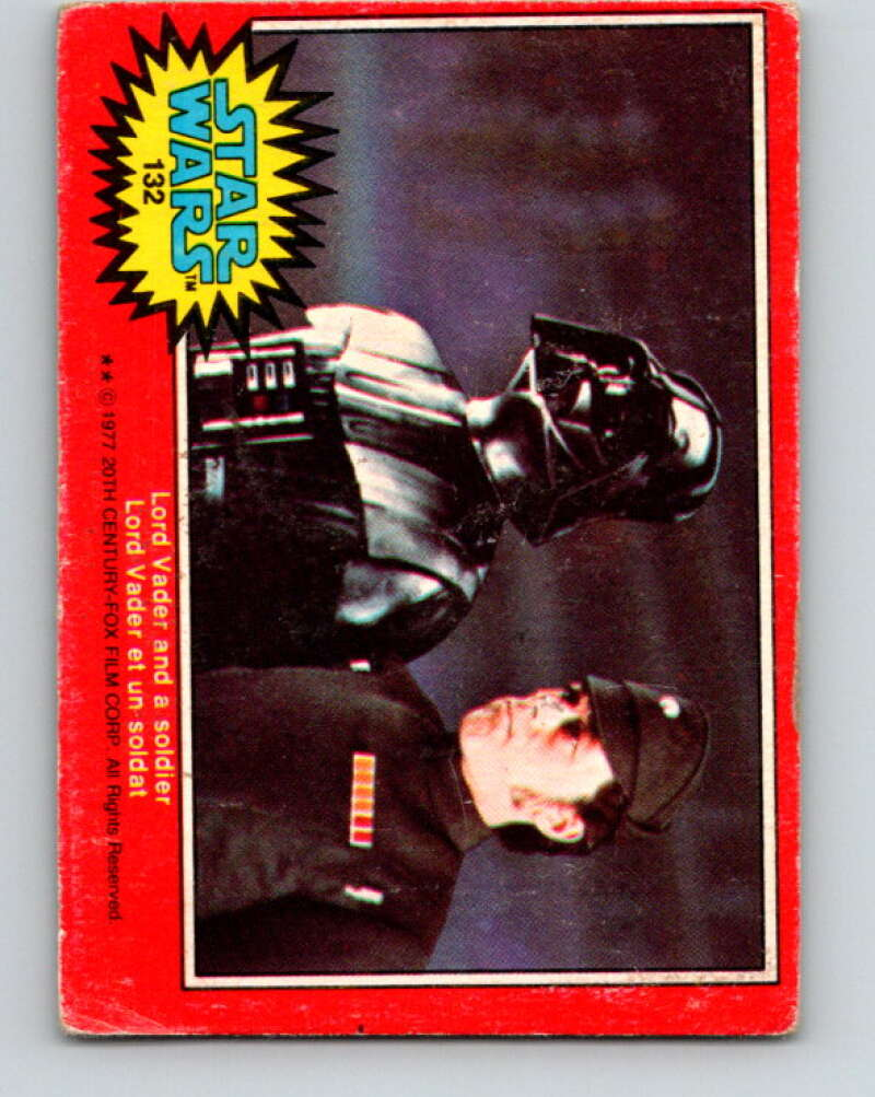 1977 OPC Star Wars #132 Lord Vader and a soldier   V34458