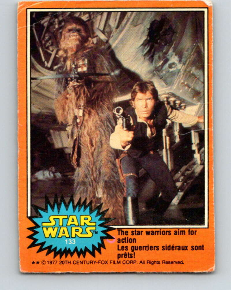 1977 OPC Star Wars #133 The star warriors aim for action!   V34459