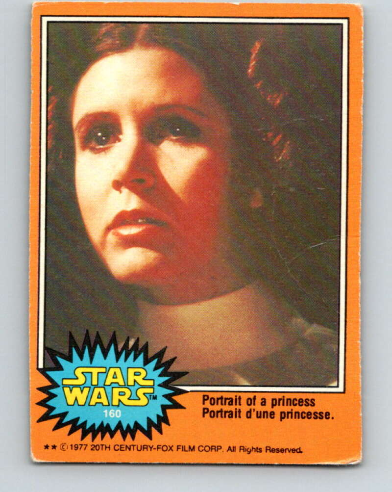 1977 OPC Star Wars #160 Portrait of a princess   V34481