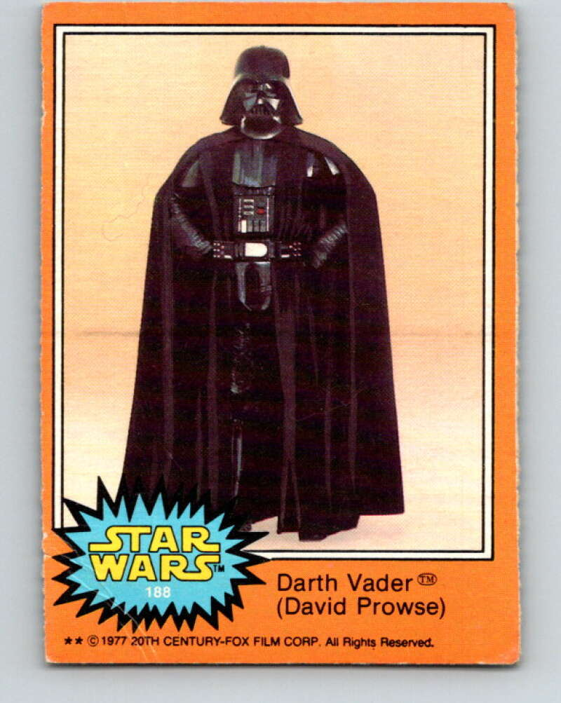 1977 OPC Star Wars #188 Darth Vader V34512