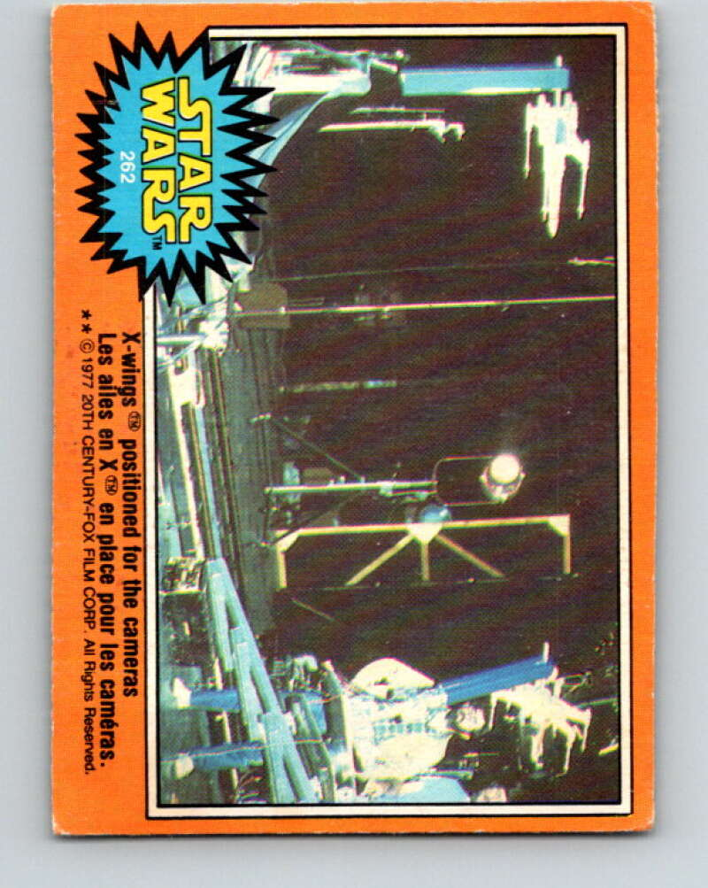 1977 OPC Star Wars #262 X-wings positioned for the cameras   V34600