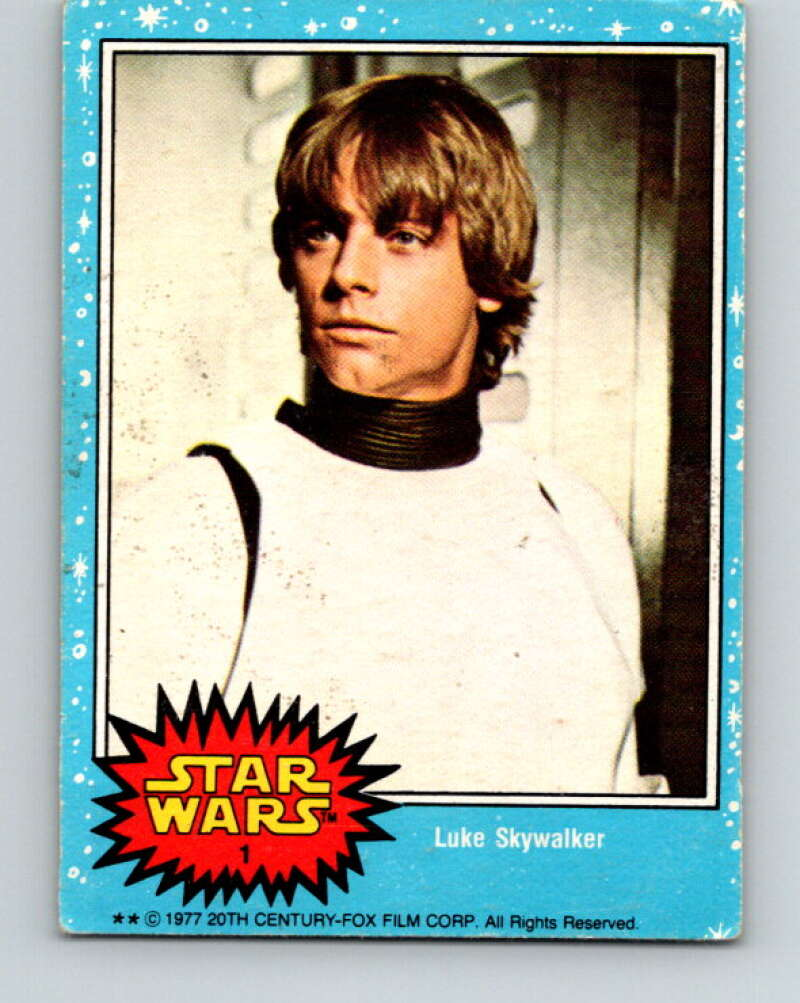1977 Topps Star Wars #1 Luke Skywalker   V34603