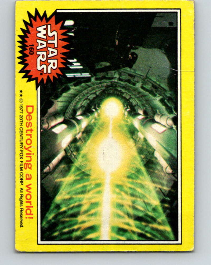 1977 Topps Star Wars #160 Destroying a world!   V34646