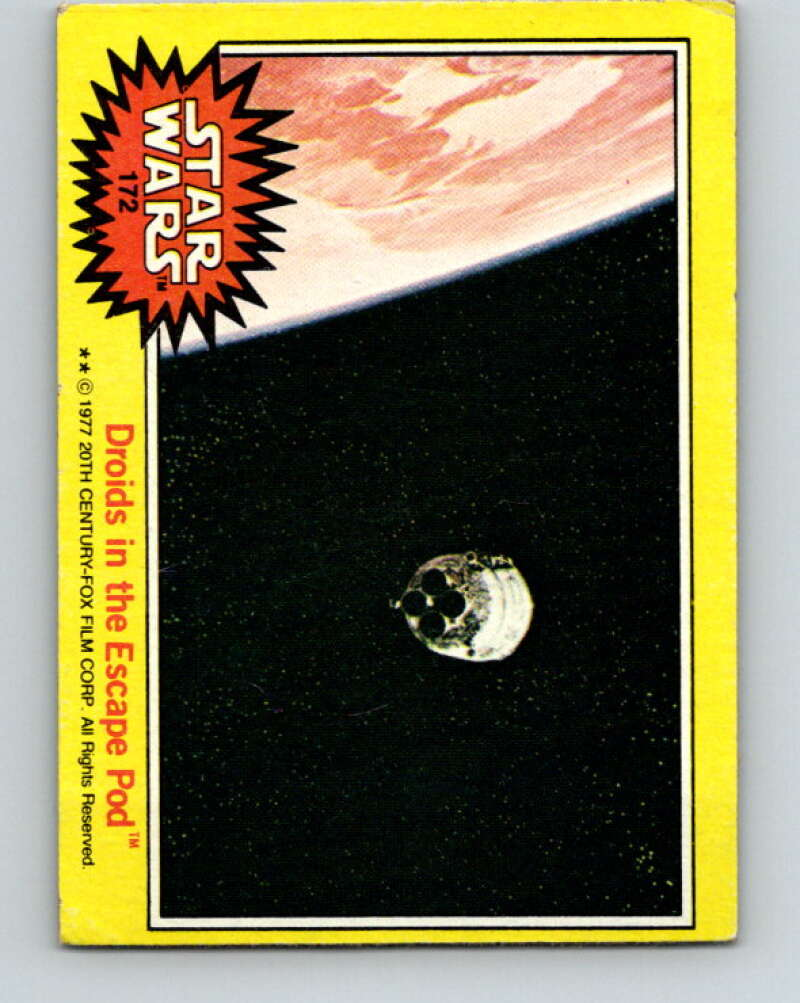 1977 Topps Star Wars #172 Droids in the Escape Pod   V34659