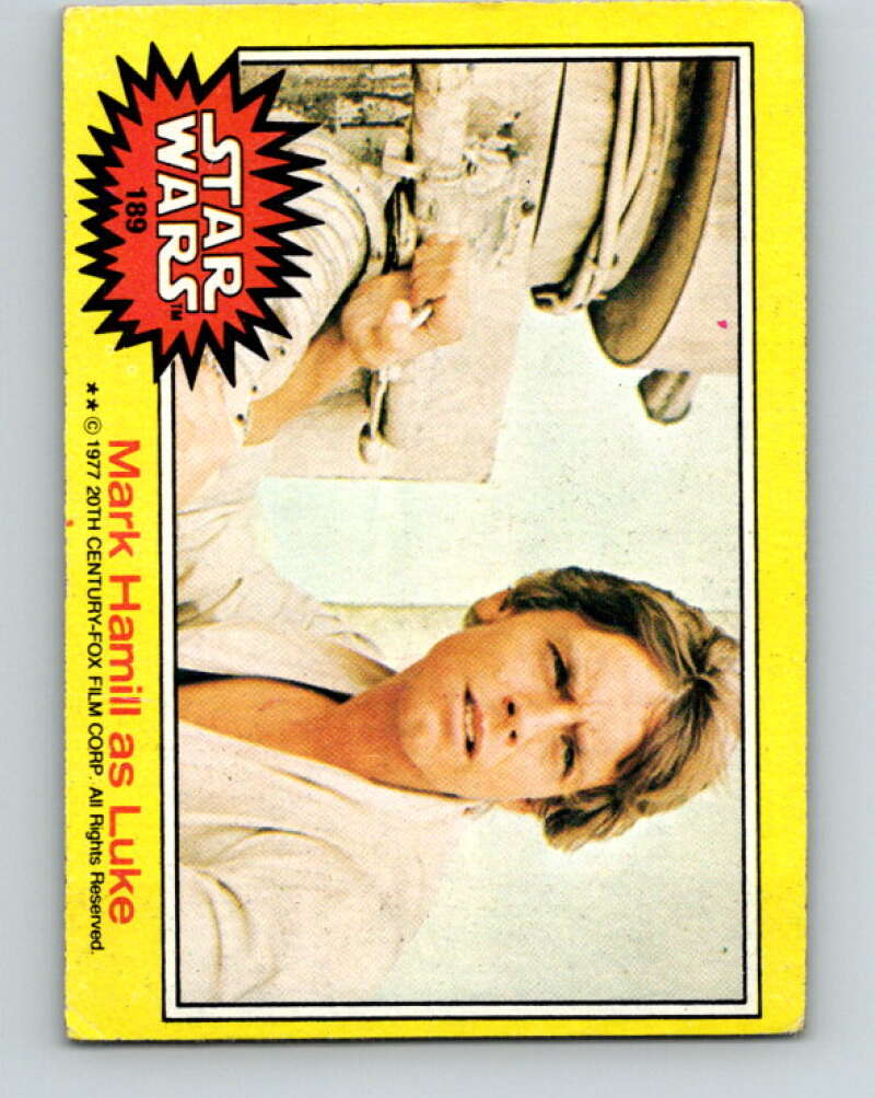 1977 Topps Star Wars #189 Mark Hamill as Luke   V34674