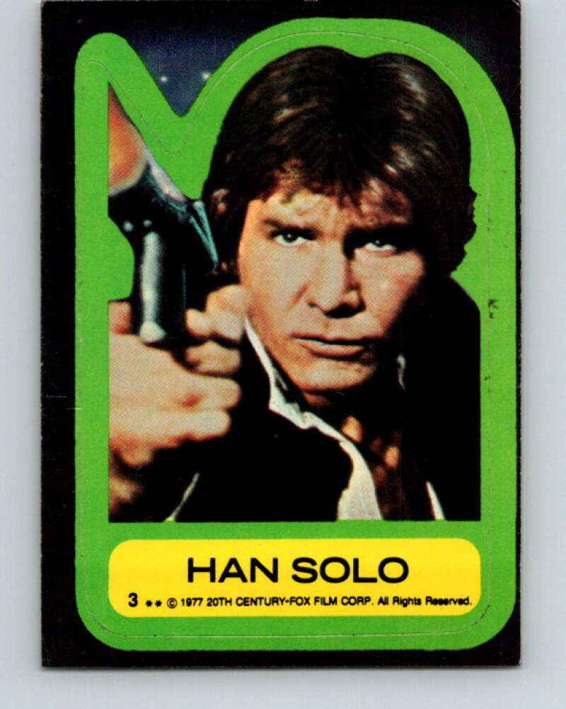 1977 Topps Star Wars Stickers #3 Han Solo   V34744