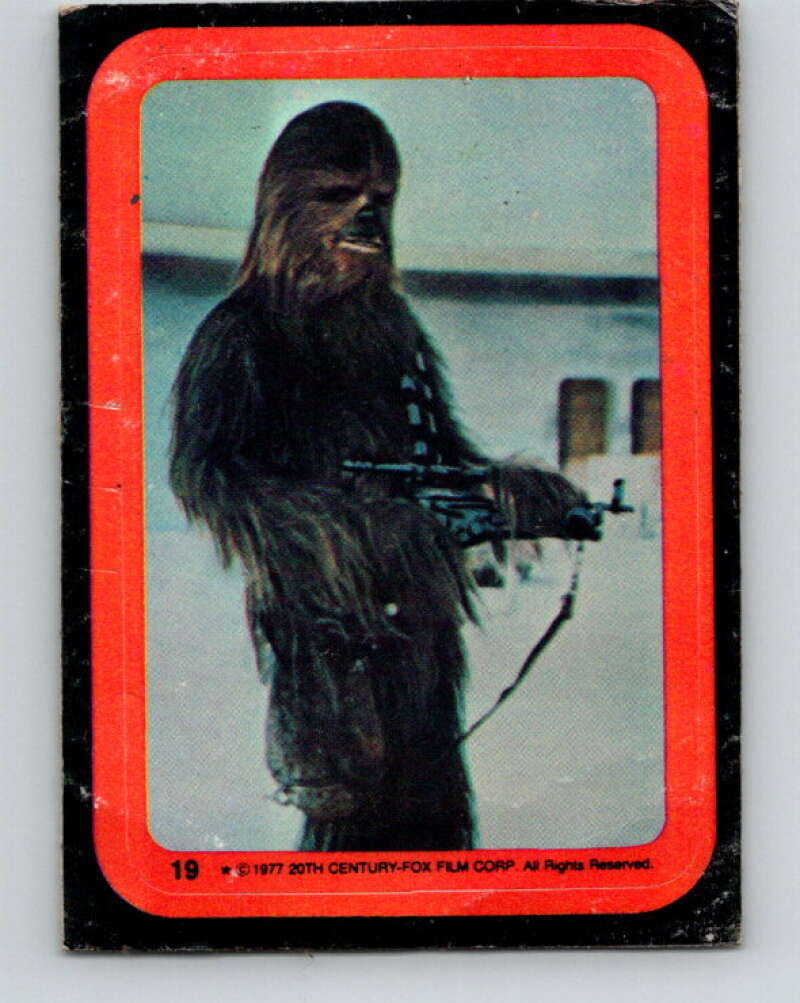 1977 Topps Star Wars Stickers #19 The Wookie Chewbacca   V34776