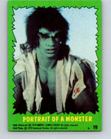 1979 Marvel Incredibale Hulk #19 Portrait of a Monster  V34849