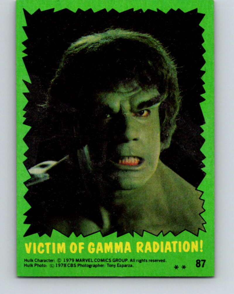 1979 Marvel Incredibale Hulk #87 Victim of Gamma Radiation  V35128