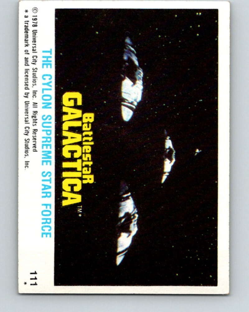 1978 Topps Battlestar Galactica #111 The Cylon Supreme Star Force   V35427