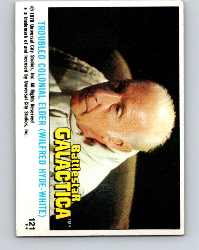 1978 Topps Battlestar Galactica #121 Troubled Colonial Elder  V35442