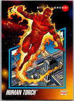 1992 Impel Marvel Universe #58 Human Torch   V36789