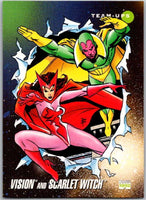 1992 Impel Marvel Universe #85 Vision and Scarlet Witch   V36792