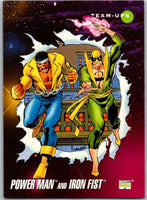 1992 Impel Marvel Universe #96 Power Man and Iron Fist   V36796