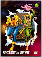 1992 Impel Marvel Universe #96 Power Man and Iron Fist   V36797