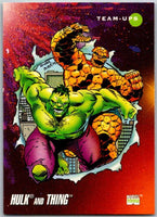 1992 Impel Marvel Universe #98 Hulk and Thing   V36799