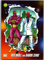 1992 Impel Marvel Universe #99 Red Skull and Baron Zemo   V36800