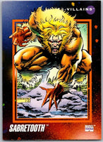 1992 Impel Marvel Universe #129 Sabretooth   V36821