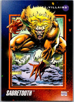 1992 Impel Marvel Universe #129 Sabretooth   V36822