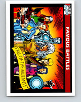 1990 Impel Marvel Universe #102 Fall of the Mutants   V36382