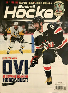 April 2021 Beckett Hockey Monthly Magazine - Alex Ovechkin Cover