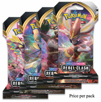 Pokemon Sword & Shield Rebel Clash Booster Sealed Card Game Pack