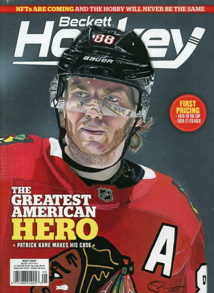 May 2021 Beckett Hockey Monthly Magazine - Patrick Kane Cover