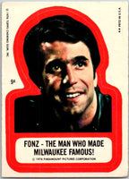 1976 Topps Happy Days Stickers #9 Fonzie Forever   V44188