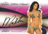 2008 Bench Warmer Signature Series MARTINA ANDREWS Autograph Silver Foil