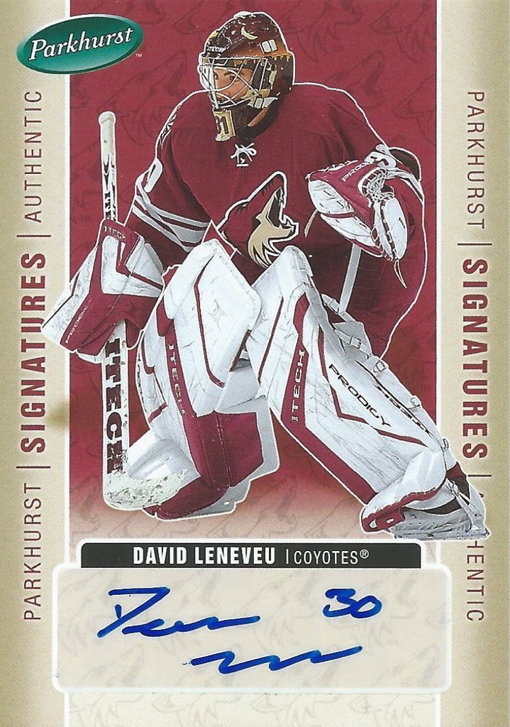 2005-06 Parkhurst Signatures DAVID LENEVEU Autograph Auto Upper Deck 00240