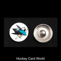 San Jose Sharks NHL Snap Ginger Button Jewelry for Jackets, Bracelets...