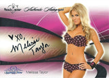 2008 Bench Warmer Signature Series MELISSA TAYLOR Autograph Silver Foil