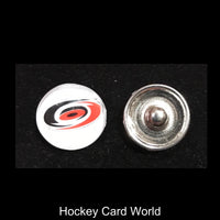 Carolina Hurricanes NHL Snap Ginger Button Jewelry for Jackets, Bracelets.