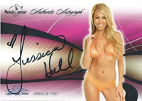 2008 Bench Warmer Signature Series JESSICA HALL Autograph Silver Foil
