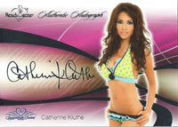 2008 Bench Warmer Signature Series CATHERINE KLUTHE Autograph Silver Foil