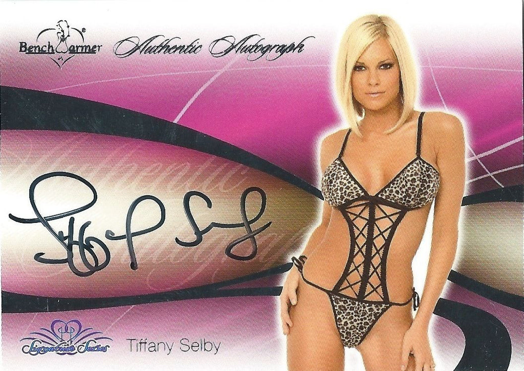 2008 Bench Warmer Signature Series TIFFANY SELBY Autograph Silver Foil