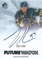 2011-12 SP Authentic ZACK KASSIAN Auto/RC #/999 Rookie UD Future 00044