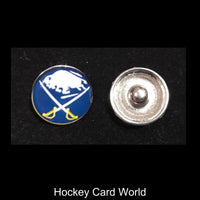 Buffalo Sabres NHL Snap Ginger Button Jewelry for Jackets, Bracelets..