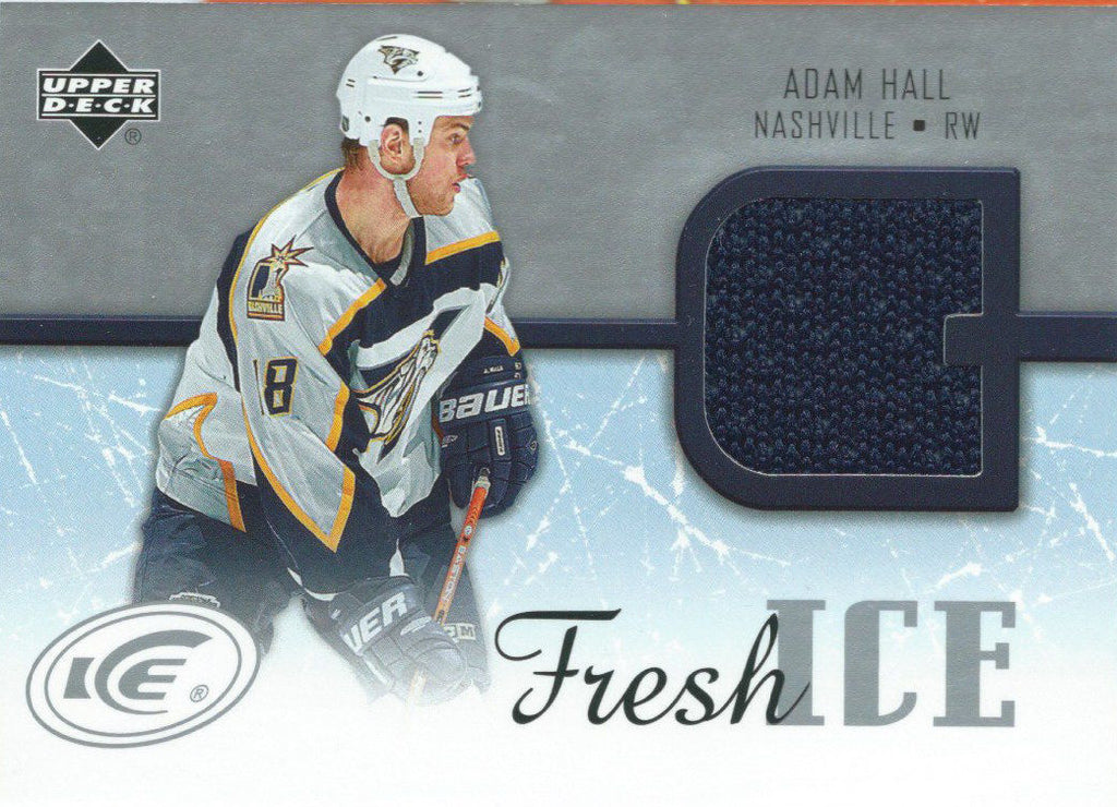 2005-06 Upper Deck Ice Fresh Ice ADAM HALL Jersey 01711