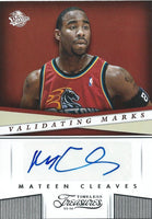 2013-14 Timeless Treasures MATEEN CLEAVES Auto Validating Marks 01583