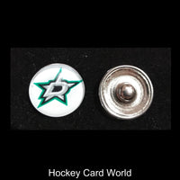 Dallas Stars NHL Snap Ginger Button Jewelry for Jackets, Bracelets.