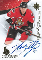 2010-11 Ultimate Collection NICK FOLIGNO Signatures Upper Deck Auto 00217