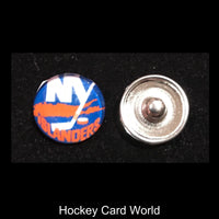 New York Islanders NHL Snap Ginger Button Jewelry for Jackets, Bracelets.