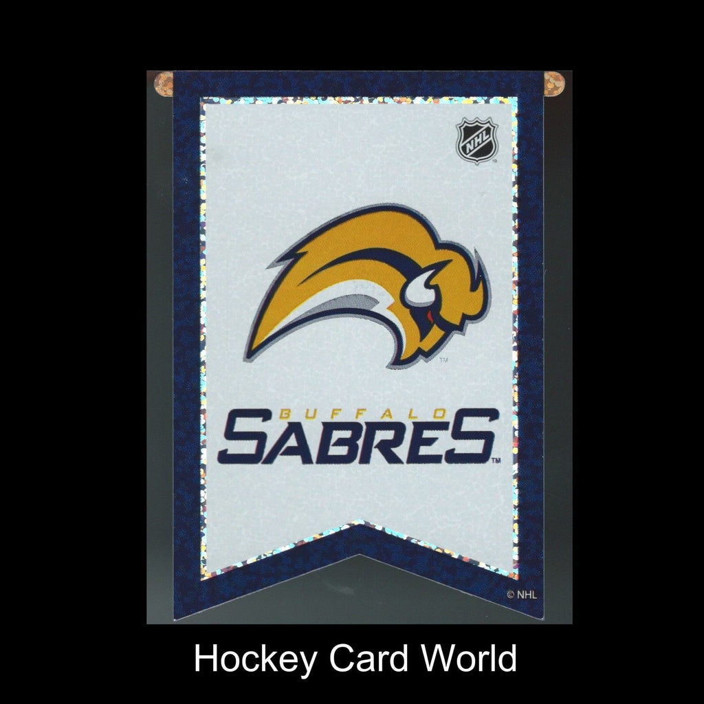 "Buffalo Sabres 3""x4"" NHL Licensed Banner Sparkle Decal Sticker"