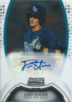 2011 Bowman Sterling Prospects JAKE HAGER Auto Signature Autographs 01340