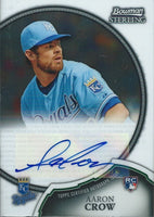 2011 Bowman Sterling Rookie AARON CROW Auto Signature Autographs MLB 01338