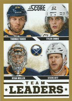 2013-14 Panini Score Gold #553 TEAM LEADERS Sabres NHL Hockey