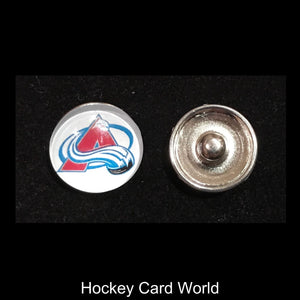 Colorado Avalanche NHL Snap Ginger Button Jewelry for Jackets, Bracelets